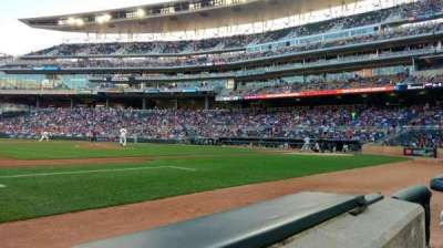 Target Field, section: 14, row: 1, seat: 8