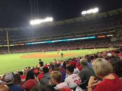 Angel Stadium, section: F107, row: R, seat: 8