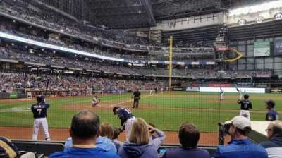 Miller Park, section: 114, row: 6, seat: 2