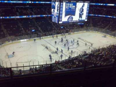 Amalie Arena, section: 319 Handicapped Accessible, row: A, seat: 1