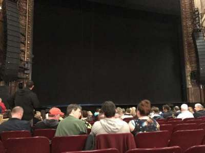 Palace Theatre (Broadway), section: Orchestra, row: L, seat: 199