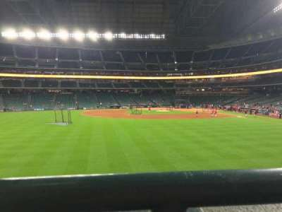 Minute Maid Park, section: 100, row: 1, seat: 10