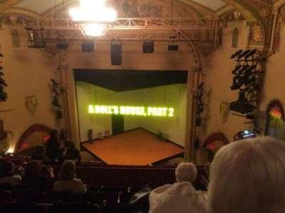 John Golden Theatre, section: Rear Mezz, row: F, seat: 114