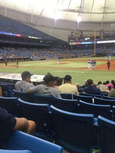 Tropicana Field, section: 122, row: Q, seat: 5