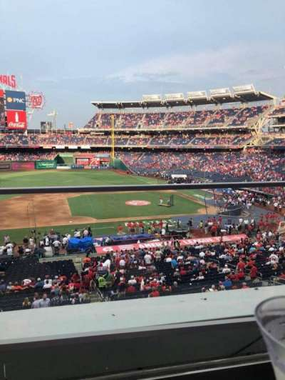 Nationals Park, section: 208, row: A, seat: 19