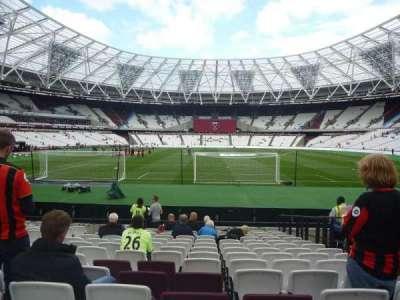 London Stadium, section: 120, row: 14, seat: 45