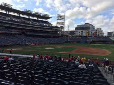 Nationals Park, section: 130, row: AA, seat: 1