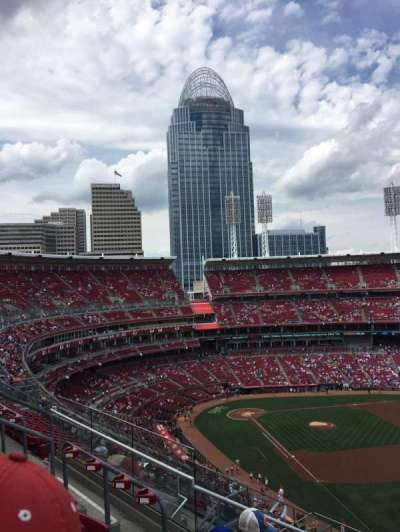 Great American Ball Park, section: 537, row: H, seat: 1