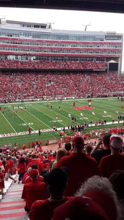 Memorial Stadium, section: 9, row: 40, seat: 24