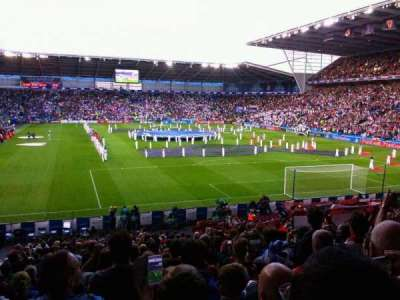 Cardiff City Stadium, section: 126, row: y, seat: 100
