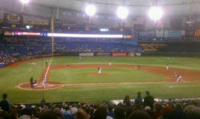 Tropicana Field, section: 110, row: gg, seat: 4