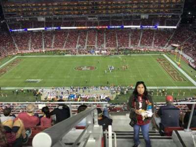 Levi's Stadium, section: 411, row: 6A, seat: 4