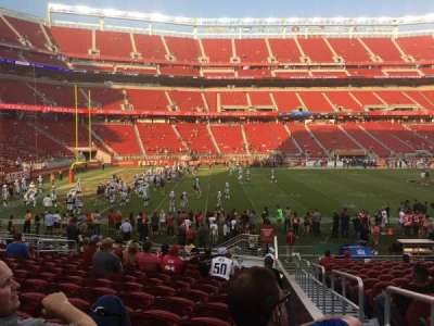 Levi's Stadium, section: 142, row: 17, seat: 5