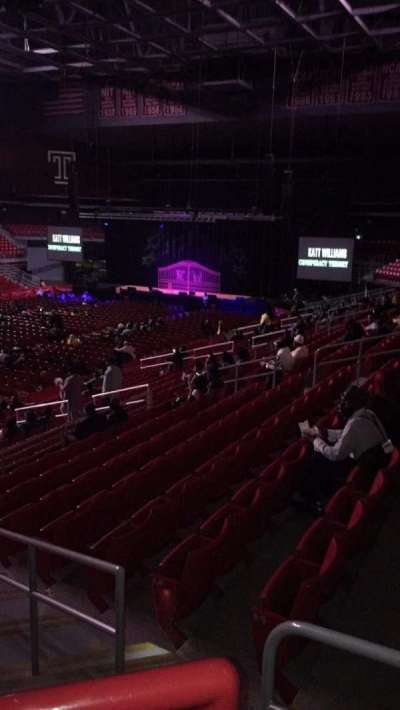 Liacouras Center, section: 106, row: W, seat: 1