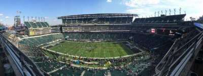 Lincoln Financial Field, section: 202, row: 1, seat: 9