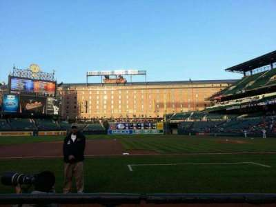 Oriole Park at Camden Yards, section: 54, row: 1, seat: 8
