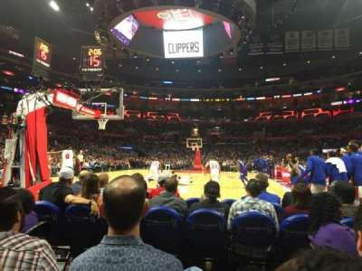 Staples Center, section: 106 Baseline, row: D, seat: 1