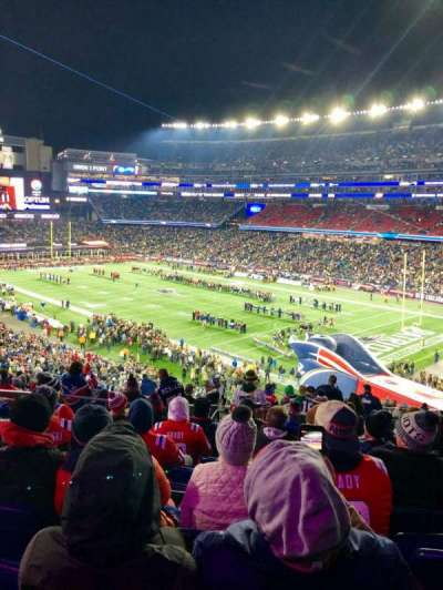 Gillette Stadium, section: 203, row: 17, seat: 21