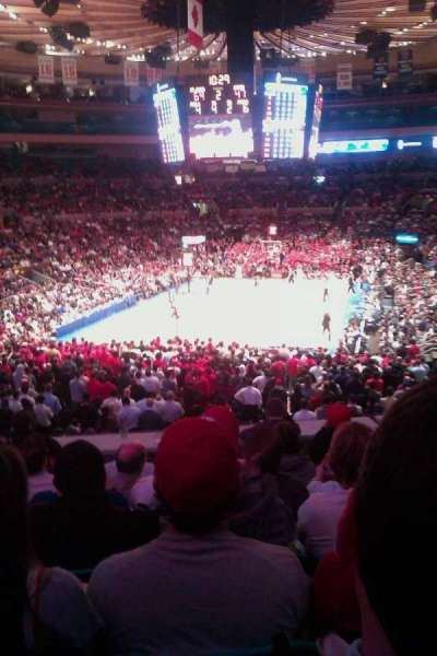 Madison Square Garden, section: 131, row: F, seat: 11