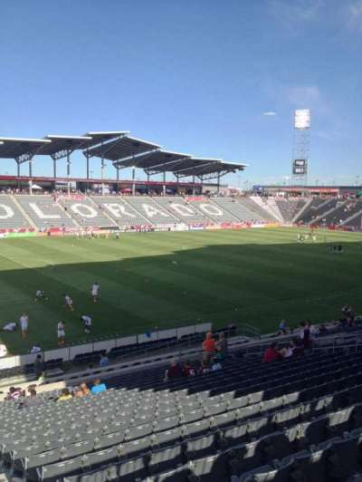 Dick's Sporting Goods Park, section: 134, row: 26, seat: 1