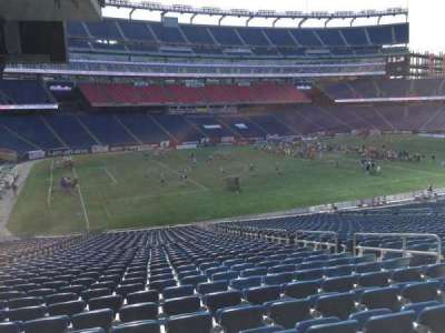 Gillette Stadium, section: 114, row: 38, seat: 8