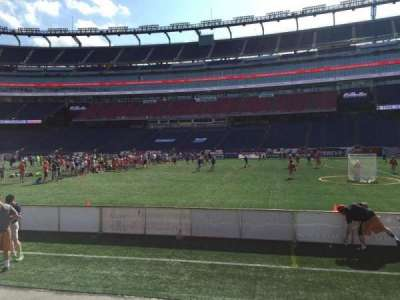 Gillette Stadium, section: 107, row: 1, seat: 12