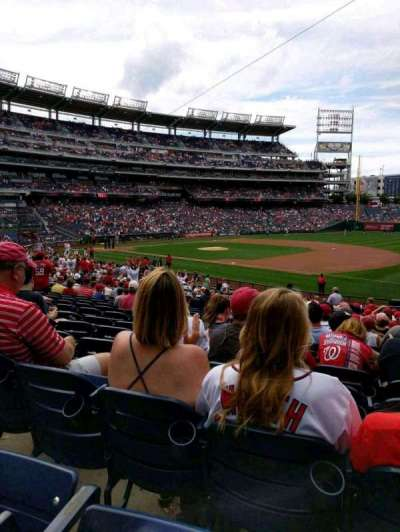 Nationals Park, section: 132, row: HH, seat: 1