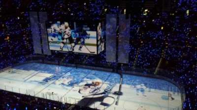 Amalie Arena, section: 314, row: M, seat: 5