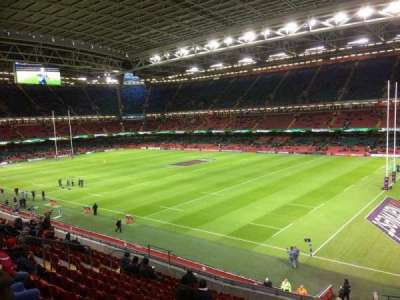 Principality Stadium, section: m5, row: 14, seat: 19