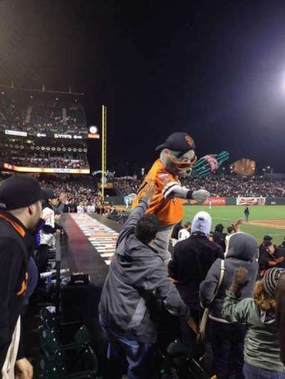 AT&T Park, section: PFC 121, row: B, seat: 15-16