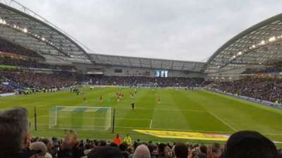 American Express Community Stadium, section: S1D, row: W, seat: 825