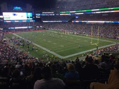 Gillette Stadium section 202