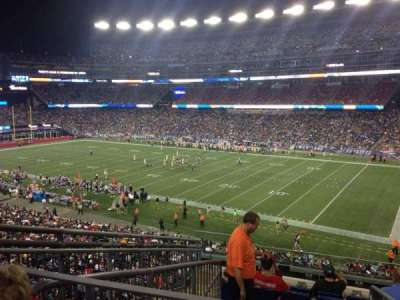 Gillette Stadium section 205