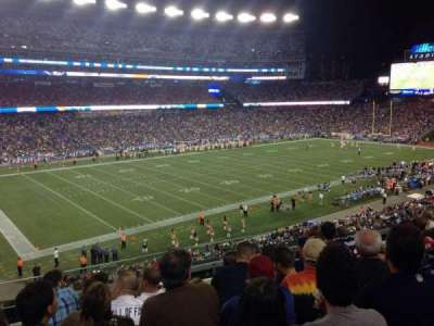 Gillette Stadium section 214