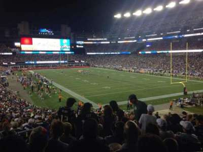 Gillette Stadium, section: 101, row: 36, seat: 14