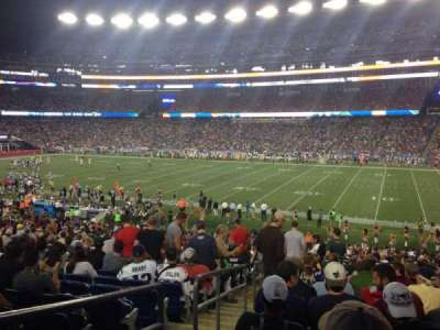 Gillette Stadium section 106