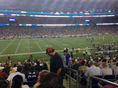 Gillette Stadium, section: 113, row: 27, seat: 1