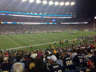 Gillette Stadium section 114