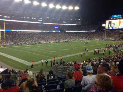 Gillette Stadium section 116