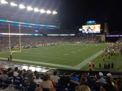 Gillette Stadium section 118