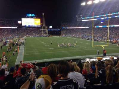 Gillette Stadium section 122