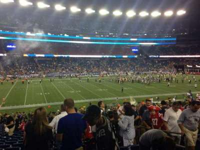 Gillette Stadium section 135