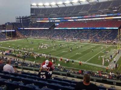 Gillette Stadium, section: 227, row: 7, seat: 7