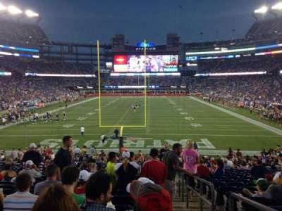 Gillette Stadium section 143