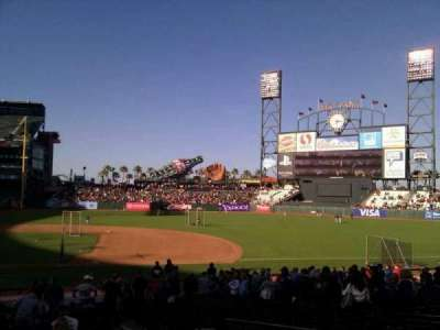 AT&T Park, section: 107, row: 25, seat: 14