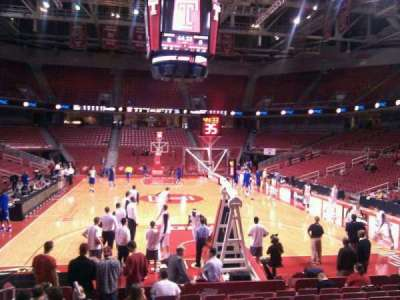 Liacouras Center, section: 118, row: m, seat: 17