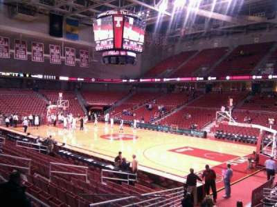 Liacouras Center, section: 110, row: q, seat: 17