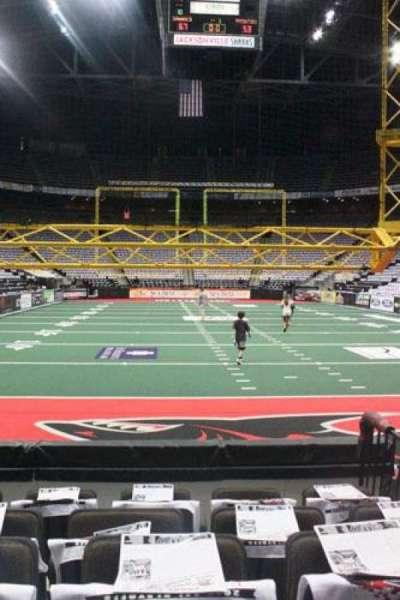 Jacksonville Veterans Memorial Arena, section: 120, row: D, seat: 3