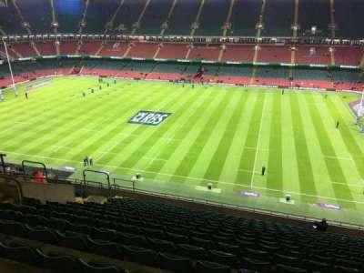 Principality Stadium, section: U28, row: 18, seat: 15