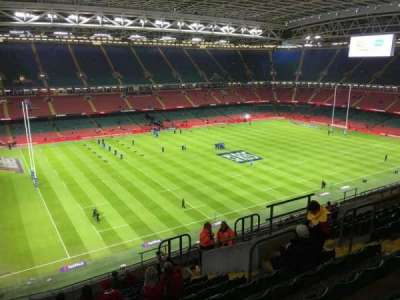 Principality Stadium, section: U34, row: 17, seat: 22
